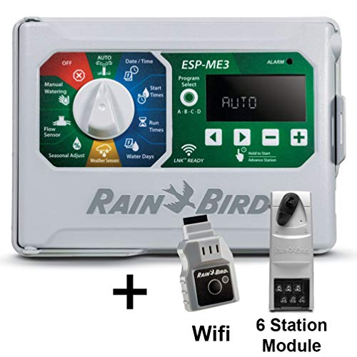 Rain-Bird Controller Indoor Outdoor Lawn Irrigation Sprinkler Timer ESPME3 (+ WiFi + 1 Module)