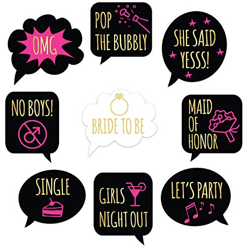 Bachelorette Party Decorations - Wine Glass Drink Markers - 18 Static Clings Reusable Stickers
