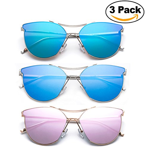 Modern 2017 Geometric Cateye Design Fashion Quality Metal Frames Sunglasses for - 2017 Glasses Trending