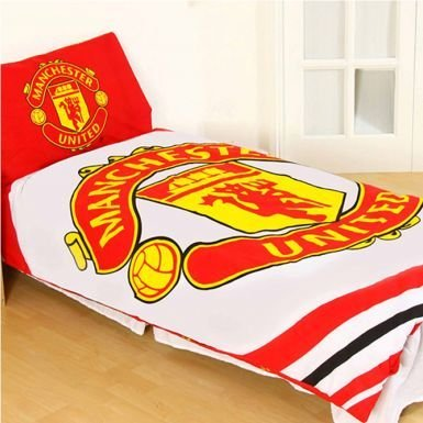Price comparison product image Official Licensed Manchester United Single Duvet Cover Set (Reversible)