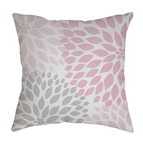 iYBUIA Leaf Printed Cotton Linen Pillow Case Sofa Waist Throw Cushion Cover Home Decor -