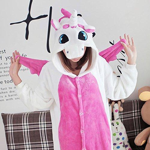 MH-RITA 2017 Unicorn Pajamas Adult Kids Warm Flannel Siamese Cartoon Autumn Winter Pajamas Family Fitted Animal Pajamas For Women Men,02,Xxxl