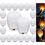 TopDirect 20Pcs Sky Lanterns, Chinese Paper Lantern Eco-Friendly Flying Lanterns for Christmas, Years, Weddings & Parties