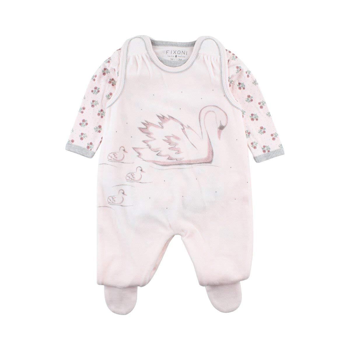 FIXONI Baby Girls' Hush Suitset-oekotex Footies 33229