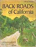 jack mcdowell - Back Roads of California: Sketches and Trip Notes by Earl Thollander (A Sunset Pictorial)