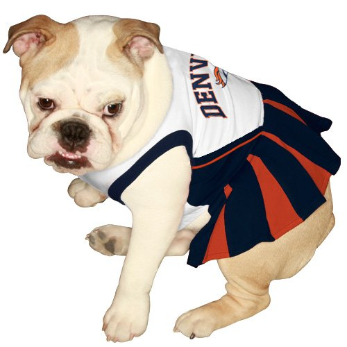 Amazon.com   Pets First NFL Denver Broncos Dog Cheerleader Dress f7a504a6d