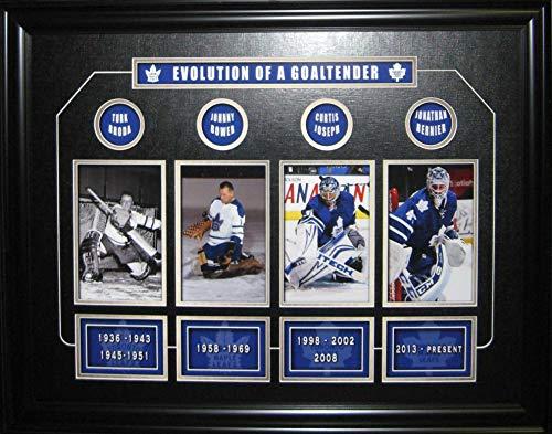 Coins Framed Photomint (Sports Memorabilia Evolution of A Maple Leaf Goalie Collage Print Framed - NHL Photomints and Coins)