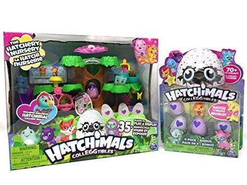 Hatchimals Colleggtibles Bundle   Hatchimals Hatchery Nursery Playset   Season 1 Colleggtibles 4 Pack  Bonus  Color And Style May Vary