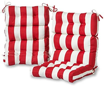 Greendale Home Fashions Outdoor High Back Chair Cushion set of 2