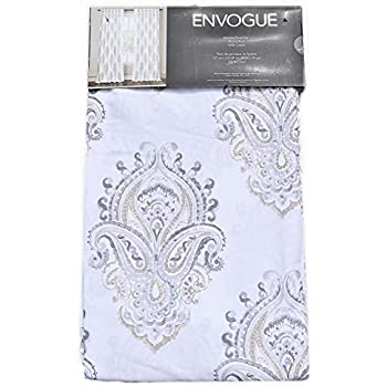Amazon Com Envogue Medallion Window Curtains Gray Taupe