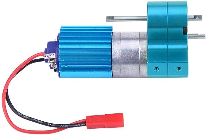 Dilwe Caja de Cambios RC, Cambio de Velocidad de la Caja de Engranajes de Metal con 370 Brush Motor para WPL 1633 RC Car(Azul): Amazon.es: Juguetes y juegos