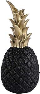 Lovecat Resin Pineapple Decoration, Household Decorative Pineapple, Fashion Artificial Pineapple, Fake Resin Pineapple Ornament, Home Decor Centerpiece (Black, S)