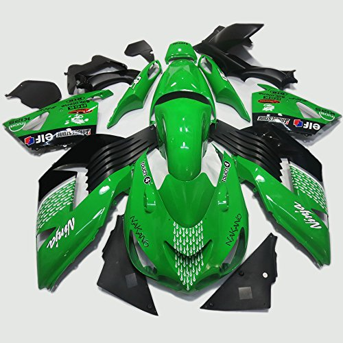 Amazon.com: ABS Injection Molding - Green Fairing Kit for ...