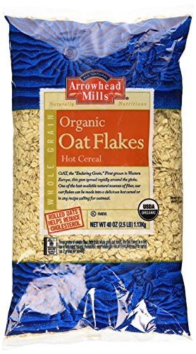 Arrowhead Mills Organic Oat Flakes, 2.5 Pound (Pack of 6)