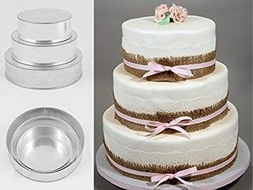 Euro Tins Moule Rond Pour Gâteau De Mariage à 3 étages Lot