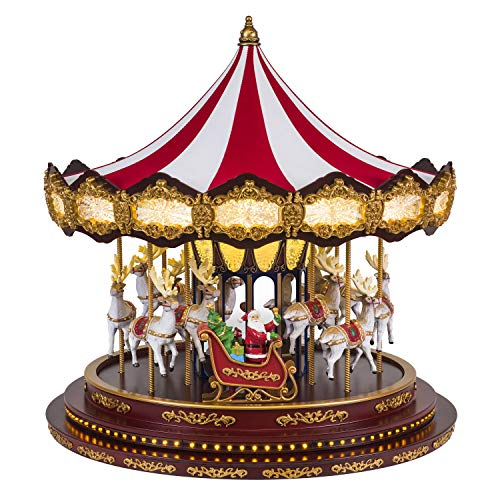 Mr. Christmas 19699 Deluxe Christmas Carousel Holiday Decoration One Size Multi ()