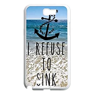 DDOUGS I Refuse to Sink Personalized Cell Phone Case for Samsung Galaxy Note 2 N7100, Best I Refuse to Sink Case