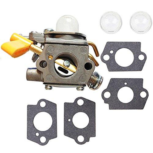 Homelite Gasket - Savior C1U-H60 Carburetor 308054013 + Primer Bulb + Gaskets for Homelite Ryobi Poulan Craftsman 30cc 26cc Trimmer Blower ZAMA Carb Replace 308054012 308054004 308054008