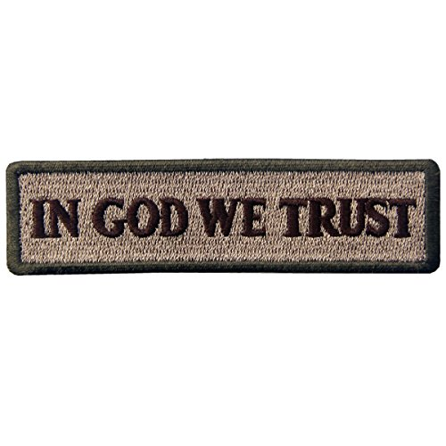 EmbTao in GOD We Trust Embroidered Tactical Morale Iron On Sew On Patch - Multitan