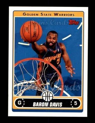 Davis Warriors Baron (2006 Topps # 49 Baron Davis Golden State Warriors (Basketball Card) Dean's Cards 8 - NM/MT Warriors)