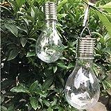 HTNBO [US in Stock] Garden Solar Lights, Waterproof Solar Rotatable Outdoor Garden Camping Hanging LED Light Lamp Bulb MR - 1 Pcs