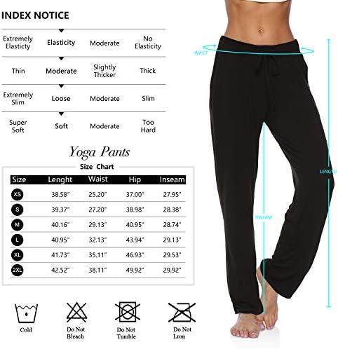 DIBAOLONG Womens Yoga Pants Wide Leg Comfy Drawstring Loose Straight Lounge Running Workout Legging
