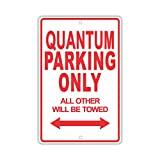 """VOLKSWAGEN QUANTUM Parking Only All Others Will Be Towed Ridiculous Funny Novelty Garage Aluminum 8""""x12"""" Sign Plate"""