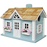 Home Bazaar Nantucket Cottage Birdhouse, Blue