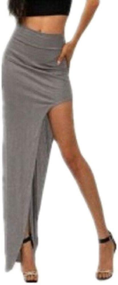 Falda larga y sexy asimétrica para mujer