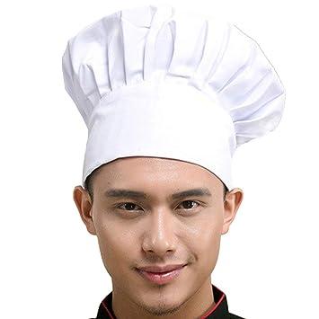 Chef Hat Adult Adjustable Elastic Baker Kitchen Cooking Chef Cap ... 5eab016ea3a