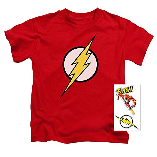 Youth Flash Lightning Bolt Logo T Shirt for Boys (Size 5/6) Red -