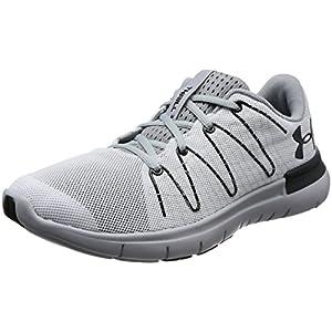 Under Armour Men's Thrill 3 Running Shoe, White (100)/Overcast Gray, 12