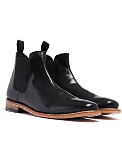 Russell Thomas Black Leather Chelsea Boots-UK 12