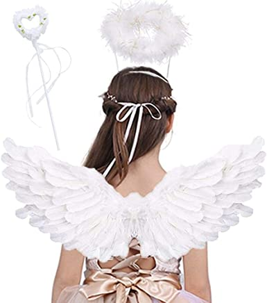 Prom Angels Halloween Party October 2020 Amazon.com: Angel Wings for Kids, Angel Costume with Halo Magic