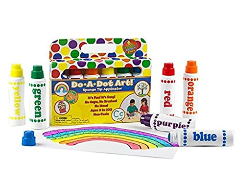 Do A Dot Art! Markers 6-Pack Rainbow Washable Paint Markers, The Original Dot Marker (Toddler Non Toxic Paint)
