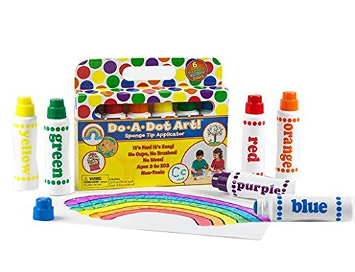 Do A Dot Art! Markers 6-Pack Rainbow Washable Paint Markers, The Original Dot (Banner Paint Brush)