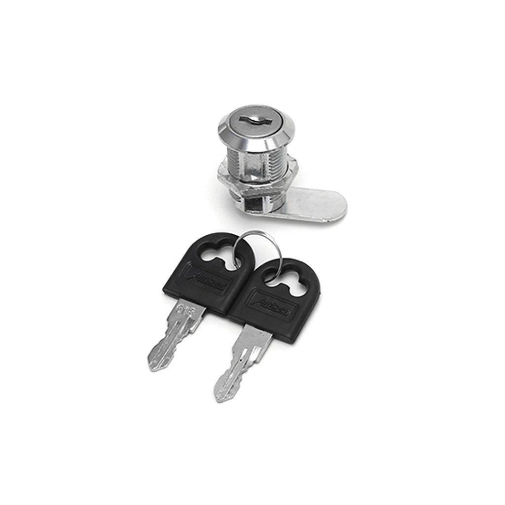Exing 10-25mm Cam Lock Aktenschrank Post Briefkasten Schublade Schrank Locker 2 Schlü ssel-Zink-Legierung, 10mm / 16mm / 20mm / 25mm (25)