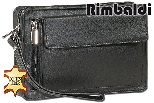 High Man quality Nappa Wrist Bag Black Leather Rimbaldi From In Soft For Made 0aZ1Bxq1