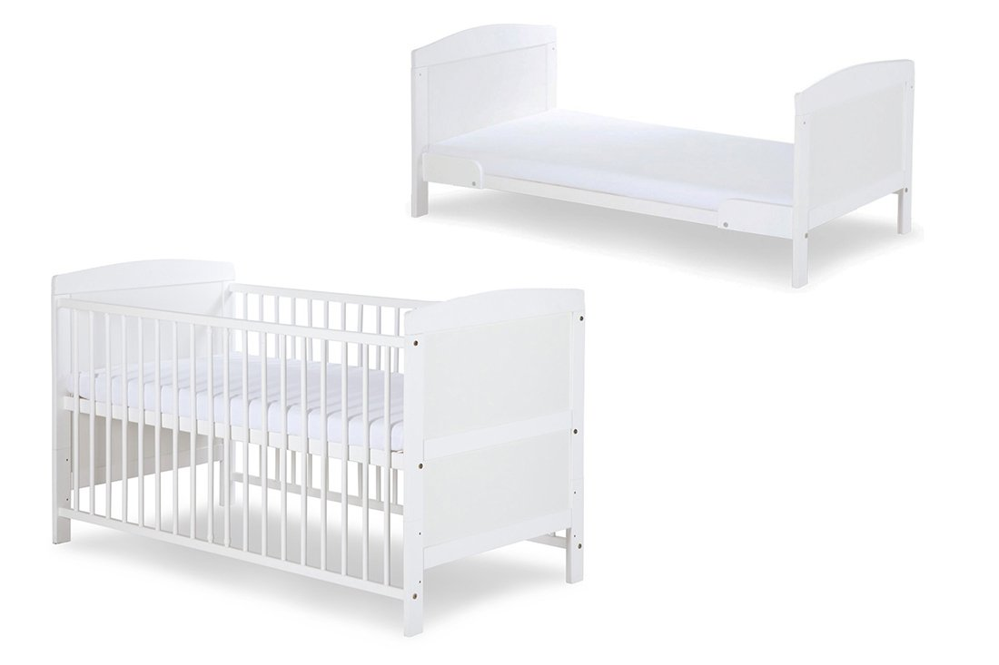 Babybett Gitterbett Juniorbett Matratze 2 in 1 mit Schaum MATRATZE 120 x 60 cm Weiß umbubar ekmTRADE