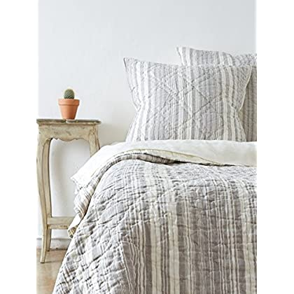 Image of Amity Home Jacob Stripe Quilt Set, King, Sea Glass