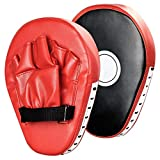 Buy Allamazing Leather Boxing Gloves Mitts Training Target Focus Punch Pads