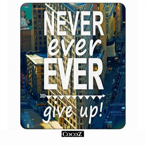 New York City Never Ever Ever Give Up Computers Mouse Pad cooz,Keyboard Non-Slip Rubber Base Mousepad (Synonyms For The Best Ever)