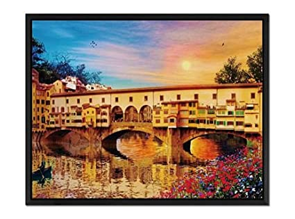 Italy Canvas Wall Art prints high quality Ponte Vecchio Florence