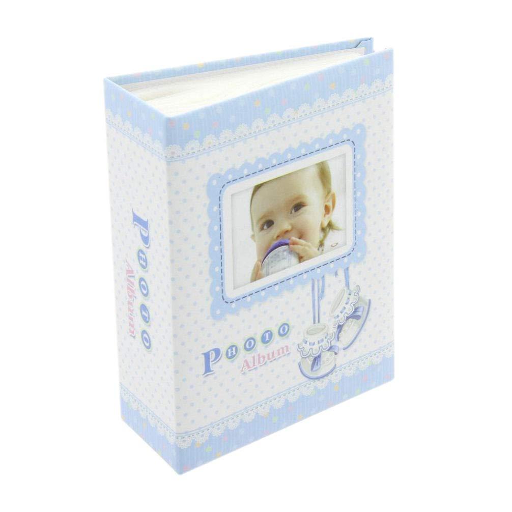 Fotoalbum Baby Einsteckalbum Babyalbum Pocket Mini blau 3Le-9 f/ür 100 Fotos 9x13 cm