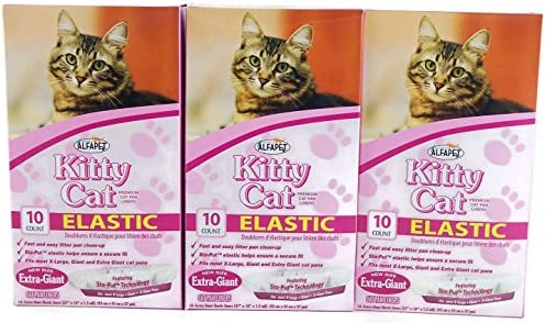 New Version Durable Bags for Pet Cats Easy Clean Up Jumbo Drawstring Scented Litter Pan Box Liners 15 ct Super Thick