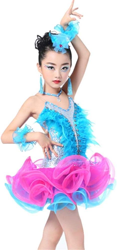 Disfraz de baile de niña Niños Rumba Salsa Vestido de baile Niñas ...