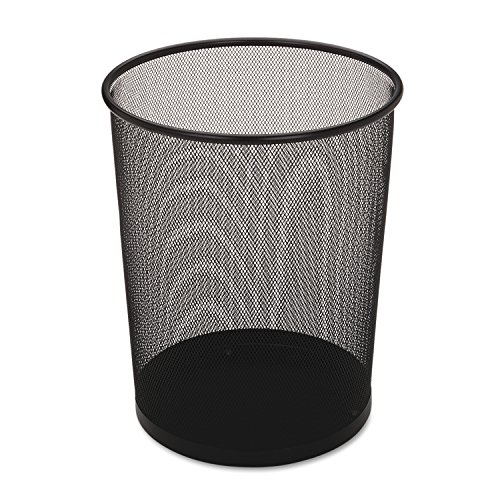 [Rubbermaid Commercial Executive Series Hide-a-Bag Open Top Trash Can, 5 Gallon, Black, FGWMB20BK] (5 Gallon Steel Open Top)