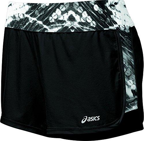 Asics Women's 4.5-Inch Everysport 4-Way Stretch II Shorts, Black/Sequin Print, Small
