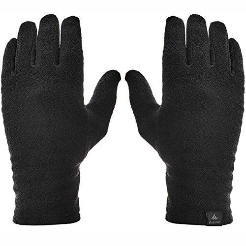 Quechua Adult Mountain Trekking Fleece Liner Gloves - Trek 100 - Black