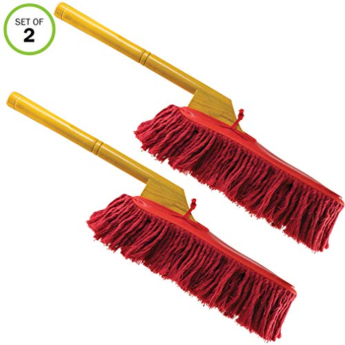 Evelots SUV Truck Automobile Car Care Duster Remove Dirt W/Wood Handle-Set of 2